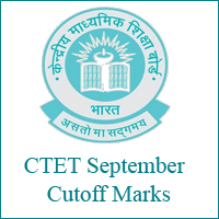 CTET September Cutoff Marks